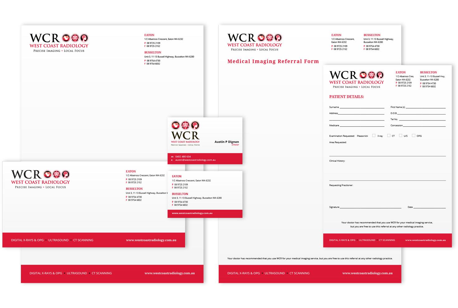 west-coast-radiology-stationery - Bonser Design